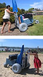 Platform Beach Wheelchair Dolly/Monster Beach Cart