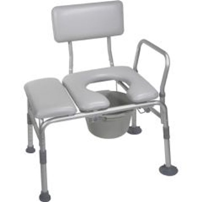 Drive 12005kdc 1 Combination Padded Transfer Bench And Commode Bath Saftey