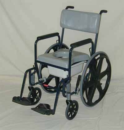 ActiveAid 480-24 Stainless Steel Shower Chair | Shower Wheelchair