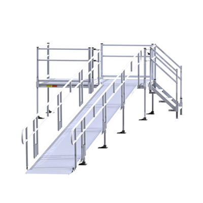 Ez access pathway aluminum modular wheelchair access ramp for Prefab wheelchair ramp