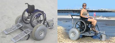 Wheeleez Platform Beach Wheelchair